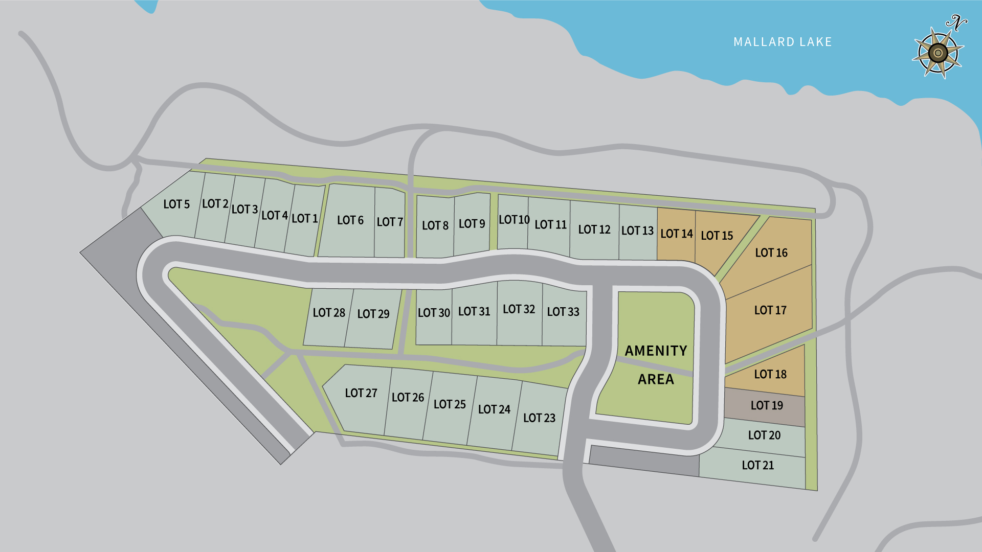 The Residences at Rough Creek Lodge Phase 1a Map
