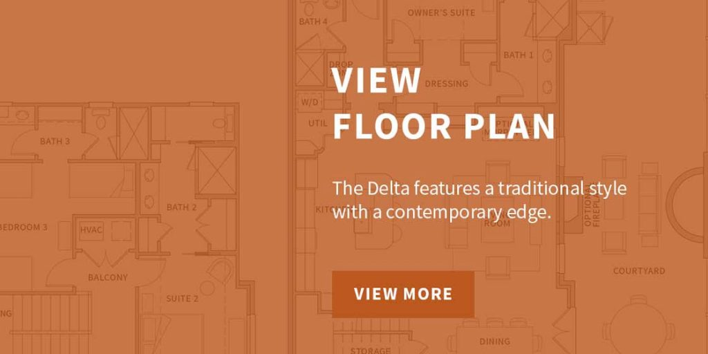 The Delta Floor Plan The Residences at Rough Creek Lodge