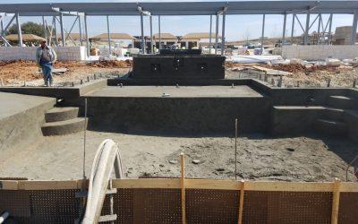 Pool Construction Underway